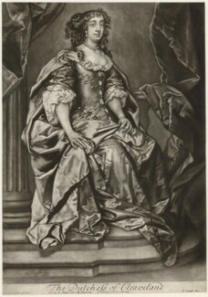 Barbara Palmer (née Villiers), Duchess of Cleveland, by Robert Williams, after  Sir Peter Lely - NPG D21365