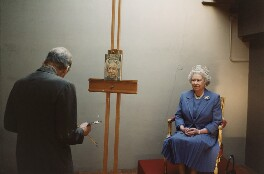 Lucian Freud; Queen Elizabeth II, by David Dawson - NPG x128062