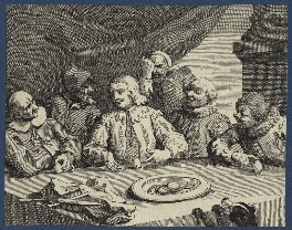 'Columbus Breaking the Egg' (Christopher Columbus), by William Hogarth - NPG D21367