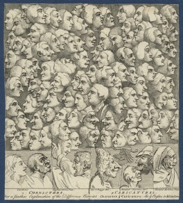 Characters and Caricaturas', by William Hogarth - NPG D21371