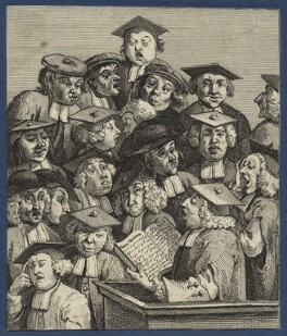 'Scholars at a Lecture', by William Hogarth - NPG D21372
