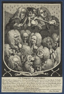 'The Company of Undertakers', by William Hogarth - NPG D21373
