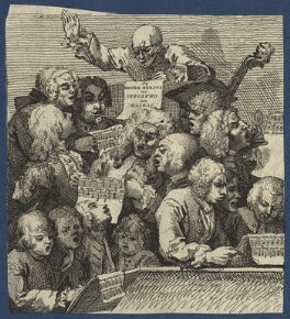 A Chorus of Singers, by William Hogarth - NPG D21375