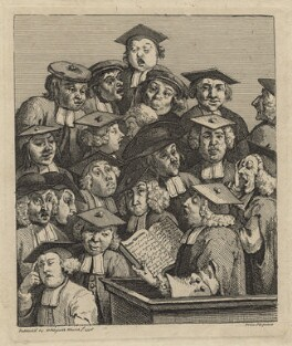 'Scholars at a Lecture', by William Hogarth - NPG D21376