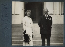 Empress Hermine of Germany (née Reuss zu Greiz); Wilhelm II, Emperor of Germany and King of Prussia, by Lady Ottoline Morrell - NPG Ax143367