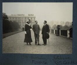 Lady Ottoline Morrell; Alberto Moravia (né Pincherle); Samuel Solomonovich ('Kot') Koteliansky, possibly by Philip Edward Morrell - NPG Ax143424