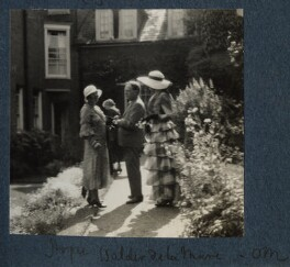 (Helen) Hope Mirrlees; Walter de la Mare; Lady Ottoline Morrell, by Unknown photographer - NPG Ax143425