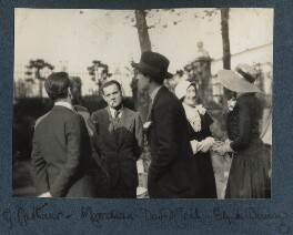 Georges Cattaui; Alberto Moravia (né Pincherle); Lord David Cecil; Elizabeth Bowen; Lady Ottoline Morrell, by Unknown photographer - NPG Ax143427