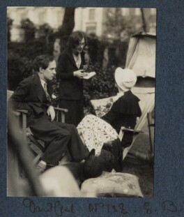 Lord David Cecil; Vivienne ('Vivien') Eliot (née Haigh-Wood); Elizabeth Bowen, by Lady Ottoline Morrell - NPG Ax143431