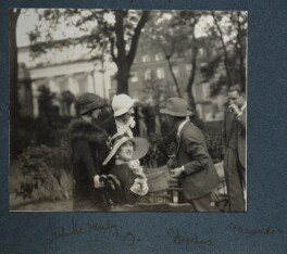 Lady Ottoline Morrell with friends, by Unknown photographer - NPG Ax143432