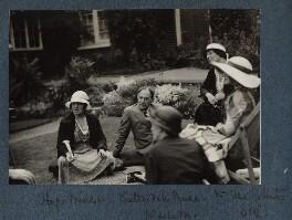 (Helen) Hope Mirrlees; Walter de la Mare; Elfrida de la Mare (née Ingpen); Mrs Ellis Roberts; Lady Ottoline Morrell, by Unknown photographer - NPG Ax143434