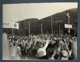 'Nazi meeting in Freiburg', possibly by Lady Ottoline Morrell - NPG Ax143453
