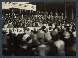 'Nazi meeting in Freiburg', possibly by Lady Ottoline Morrell - NPG Ax143454