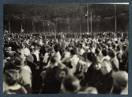 'Nazi meeting in Freiburg', possibly by Lady Ottoline Morrell - NPG Ax143455