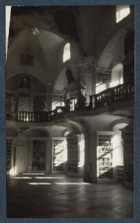 'Library in Archbishop's Palace, St. Peter's', by Lady Ottoline Morrell - NPG Ax143471