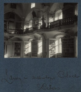 'Library in Archbishop's Palace, St. Peter's', by Lady Ottoline Morrell - NPG Ax143472