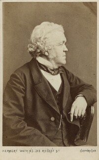 William Makepeace Thackeray, by Herbert Watkins - NPG Ax7513