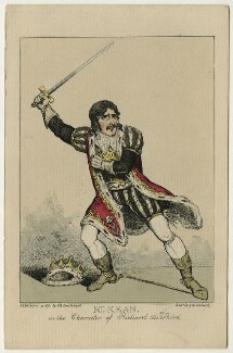 Edmund Kean, by George Cruikshank, after  (Isaac) Robert Cruikshank - NPG D21263