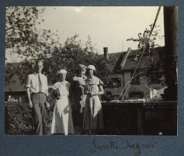 Lady Ottoline Morrell; Janette Wheeler (née Latourette Hegner) and two unknown sitters, possibly by Philip Edward Morrell - NPG Ax143473