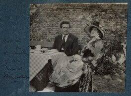 Samuel Solomonovich ('Kot') Koteliansky; Lady Ottoline Morrell, by Unknown photographer - NPG Ax143571