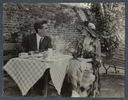Samuel Solomonovich ('Kot') Koteliansky; Lady Ottoline Morrell, by Unknown photographer - NPG Ax143573