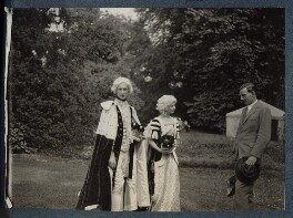 Lord David Cecil; Rachel (née MacCarthy), Lady David Cecil; Siegfried Sassoon, by Lady Ottoline Morrell - NPG Ax143585