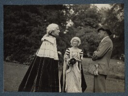 Lord David Cecil; Rachel (née MacCarthy), Lady David Cecil; Siegfried Sassoon, by Lady Ottoline Morrell - NPG Ax143586