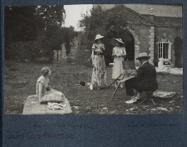 Lady Ottoline Morrell at Ashcombe, possibly by Cecil Beaton - NPG Ax143590