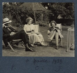 The Morrell family (Philip Edward Morrell; Lady Ottoline Morrell; Julian Vinogradoff (née Morrell)), by Unknown photographer - NPG Ax143594