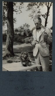 Philip Edward Morrell with his dog Pung, by Lady Ottoline Morrell - NPG Ax143661