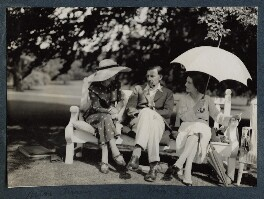 Edith Olivier; Siegfried Sassoon; Hester Sassoon (née Gatty), by Lady Ottoline Morrell - NPG Ax143665