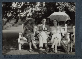 Edith Olivier; Siegfried Sassoon; Hester Sassoon (née Gatty), by Lady Ottoline Morrell - NPG Ax143666