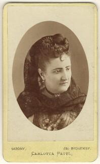 Carlotta Patti, by Napoleon Sarony - NPG Ax25076
