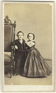 General Tom Thumb (Charles Sherwood Stratton); Mrs Tom Thumb (Lavinia Warren), by Charles DeForest Fredricks & Co - NPG Ax25100