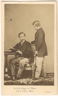 King Edward VII; Prince Alfred, Duke of Edinburgh and Saxe-Coburg and Gotha, by William Henry Southwell - NPG Ax24148