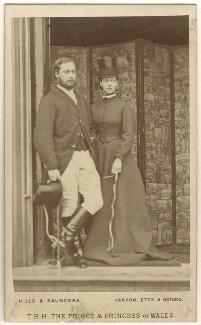 King Edward VII; Queen Alexandra, by Hills & Saunders - NPG Ax24155