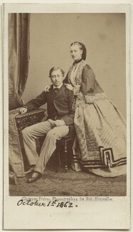 King Edward VII; Queen Alexandra, by Ghémar Frères - NPG Ax24158