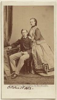 King Edward VII; Queen Alexandra, by Ghémar Frères, 9 September 1862 - NPG Ax24158 - © National Portrait Gallery, London