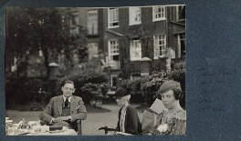 T.S. Eliot with his sister and his cousin, by Lady Ottoline Morrell - NPG Ax143671