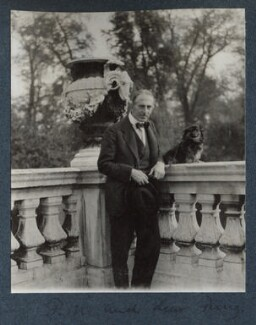 Philip Edward Morrell and his dog Pung, by Lady Ottoline Morrell - NPG Ax143672