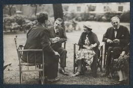 Samuel Solomonovich ('Kot') Koteliansky; Dr Frankfort; Dilys Powell; Philip Edward Morrell, by Lady Ottoline Morrell - NPG Ax143681