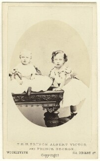 King George V; Prince Albert Victor, Duke of Clarence and Avondale, by United Association of Photography Limited, 1866 - NPG Ax24187 - © National Portrait Gallery, London