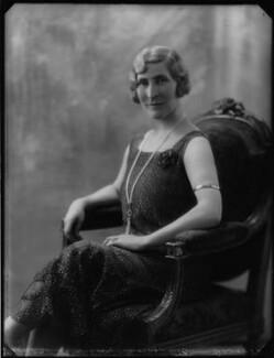 Janet Margaret (née Roberts), Lady Sandeman Allen, by Bassano Ltd - NPG x124447