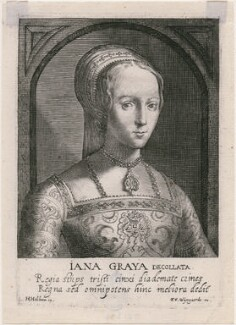Lady Jane Grey, by Magdalena de Passe, by  Willem de Passe, published by  Frans van den Wyngaerde (Wijngaerde) - NPG D21393