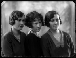 (Helen) Elizabeth (née Blades), Lady Russell; Hon. Janet Mary McBeath (née Blades); Hon. Margaret Agnes Wyatt (née Blades), by Bassano Ltd - NPG x124471