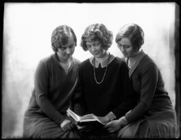 (Helen) Elizabeth (née Blades), Lady Russell; Hon. Janet Mary McBeath (née Blades); Hon. Margaret Agnes Wyatt (née Blades), by Bassano Ltd - NPG x124472