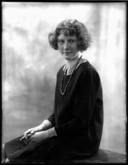 Hon. Janet Mary McBeath (née Blades), by Bassano Ltd - NPG x124475