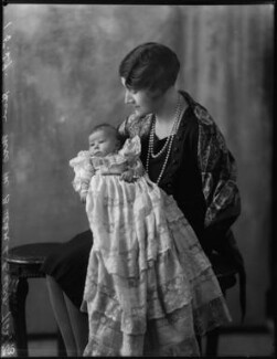 Iris Dawn (née Buller), Lady Ferguson-Davie; Hon. Noorouz Weston Buller (née Cable), by Bassano Ltd - NPG x124548