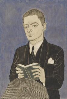 T.S. Eliot, by Powys Evans, circa 1920 - NPG 6762 - © estate of Powys Evans
