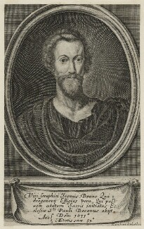 John Donne, by Pierre Lombart, after  Unknown artist - NPG D21409
